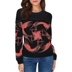5000xart 0 Women's Fringe Detail Sweatshirt (Model H28)