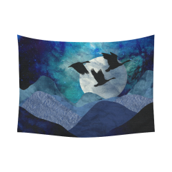 "Night In The Mountains Cotton Linen Wall Tapestry 80""x 60"""