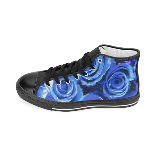 roses are blue Women's Classic High Top Canvas Shoes (Model 017)