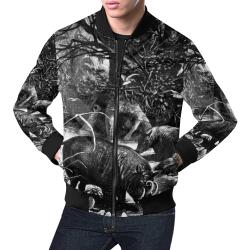 The Garden Arbor All Over Print Bomber Jacket for Men (Model H19)