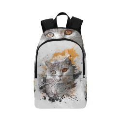 cat kitty art #cat #kitty Fabric Backpack for Adult (Model 1659)