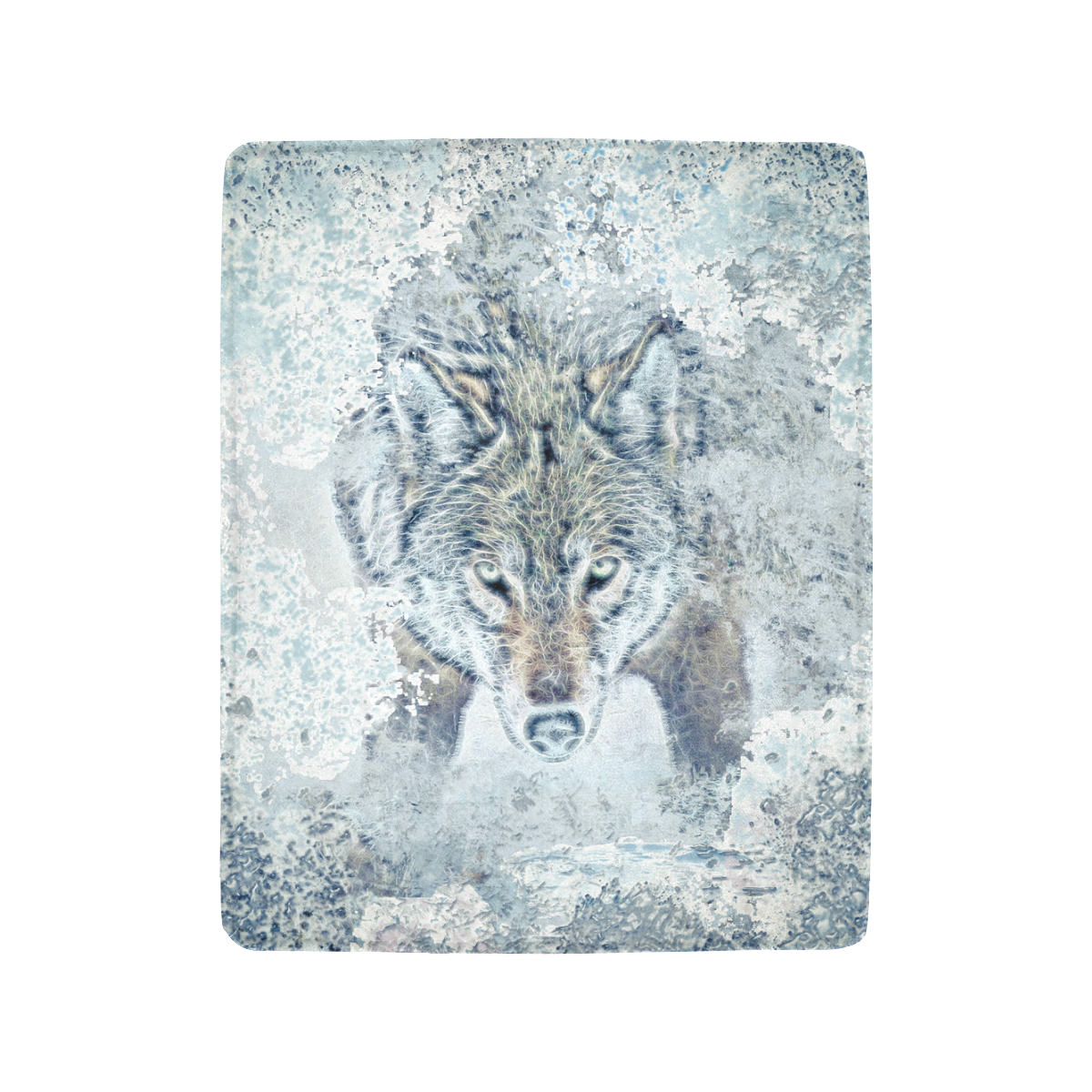 "Snow Wolf Ultra-Soft Micro Fleece Blanket 40""x50"""