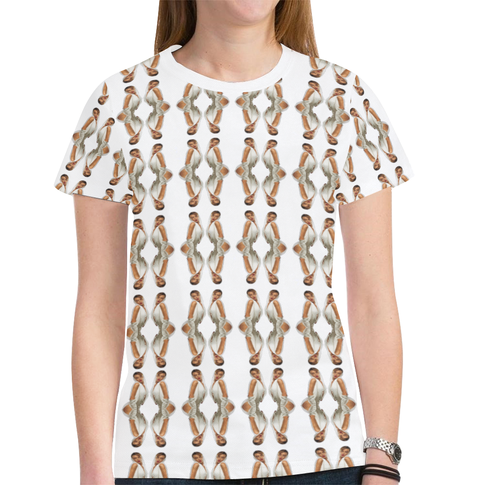 kylie pattern 2a New All Over Print T-shirt for Women (Model T45)