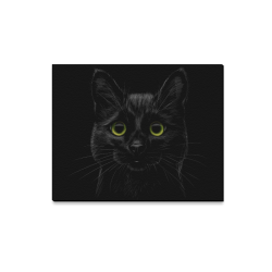 "Black Cat Canvas Print 20""x16"""