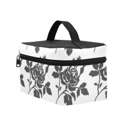 Black Roses Retro Stylish Cosmetic Bag/Large (Model 1658)
