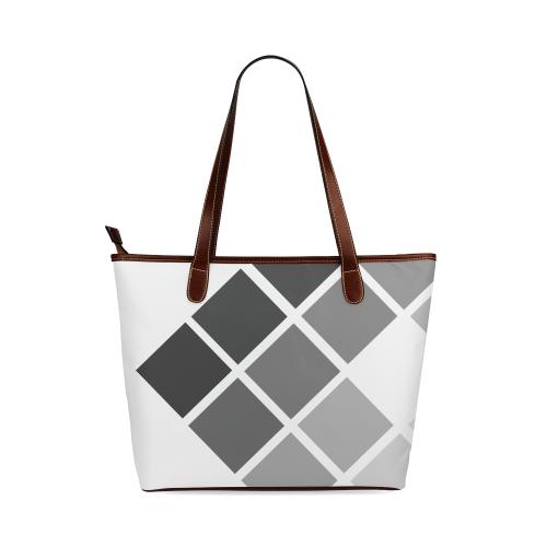grey Shoulder Tote Bag (Model 1646)