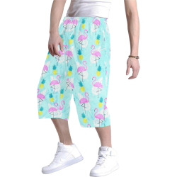 Flamingo by Artdream Men's All Over Print Baggy Shorts (Model L37)