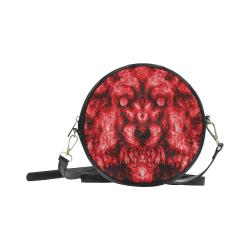 AK Blood Wolf Werewolf Soldier Round Sling Bag (Model 1647)