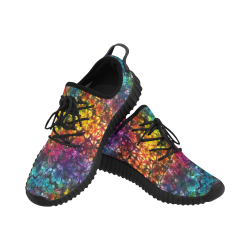 Wild Colours Tie Dye Grus Women's Breathable Woven Running Shoes (Model 022)