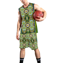 Bread sticks and fantasy flowers in a rainbow All Over Print Basketball Uniform