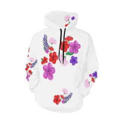 BUNCH OF FLOWERS All Over Print Hoodie for Women (USA Size) (Model H13)