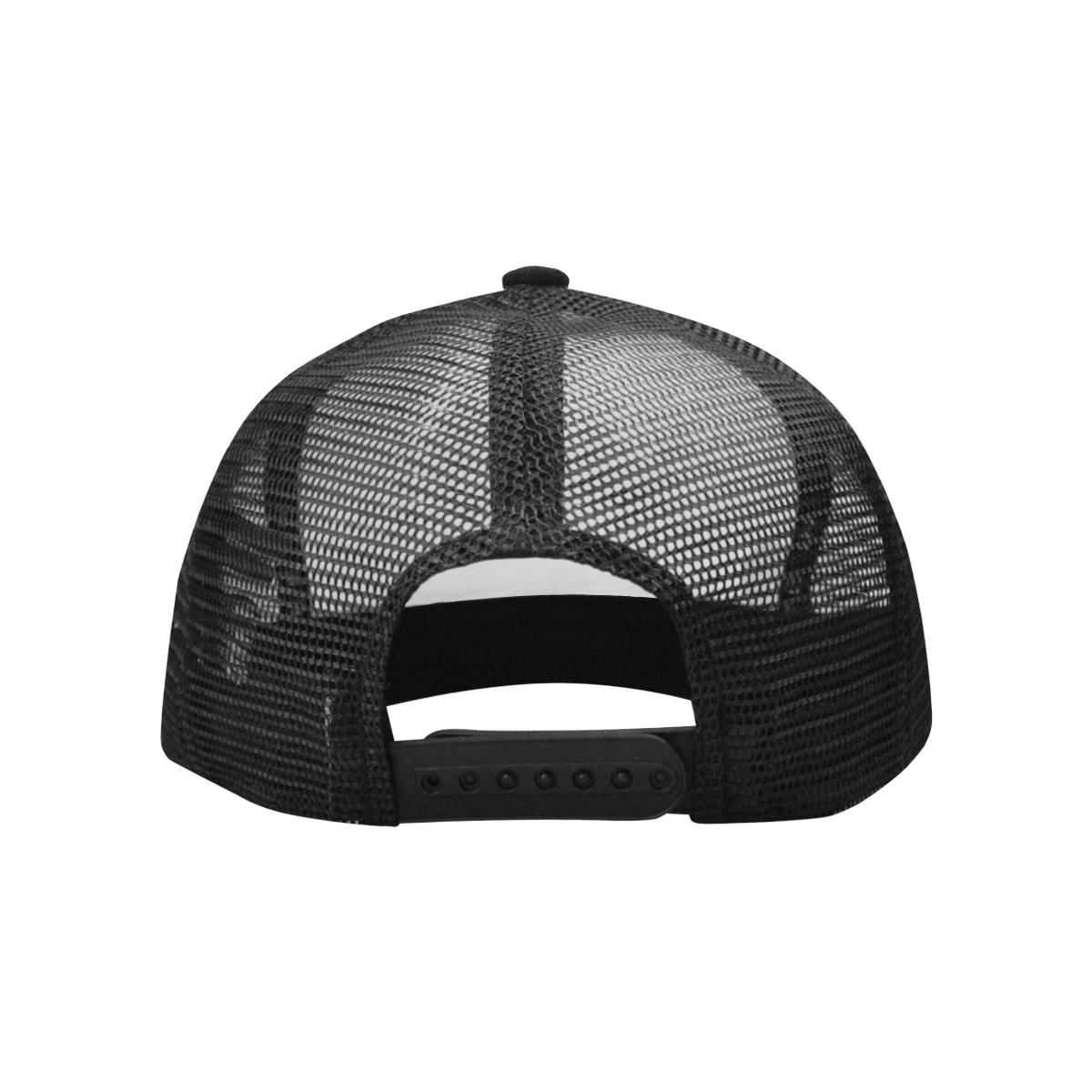 SKULL ABSTRACT BASECAP Trucker Hat H (Front Panel Customization)