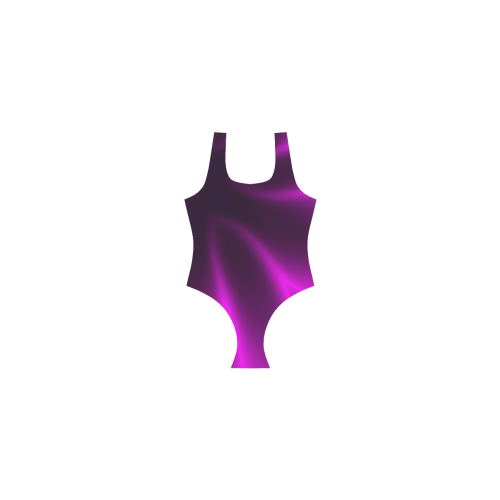 Purple Blossom Vest One Piece Swimsuit (Model S04)