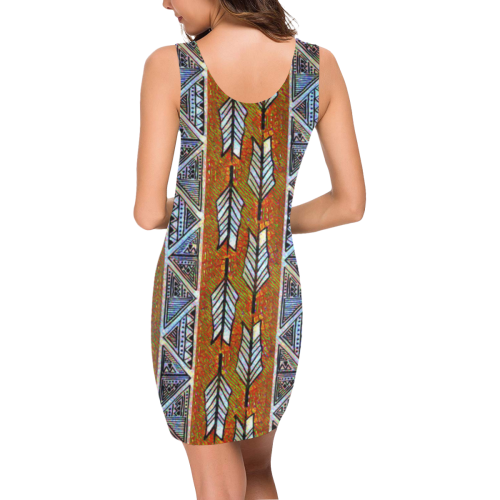 Native Stripes Medea Vest Dress (Model D06)