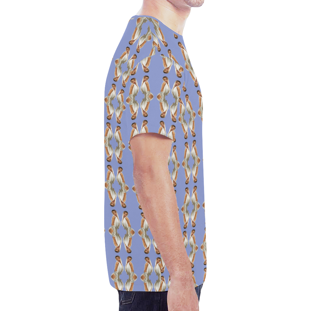 kylie pattern 2a blu New All Over Print T-shirt for Men (Model T45)