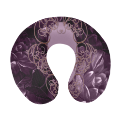 Flowers in soft violet colors U-Shape Travel Pillow