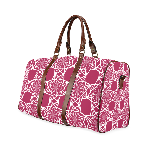 Geometric Flowers Waterproof Travel Bag/Small (Model 1639)
