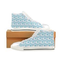 Cute Elephant Shoes, Elephant Baby Women's Classic High Top Canvas Shoes (Model 017)