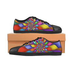 RAINBOW SKITTLES Men's Canvas Shoes (Model 016)