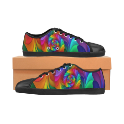 RAINBOW CANDY SWIRL Men's Canvas Shoes (Model 016)