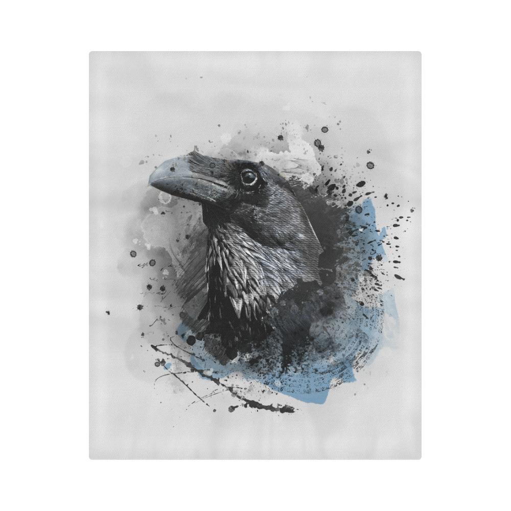 "crow raven bird art #crow #raven Duvet Cover 86""x70"" ( All-over-print)"