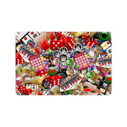"""Gamblers Delight - Las Vegas Icons Doormat 24""""x16"""""""