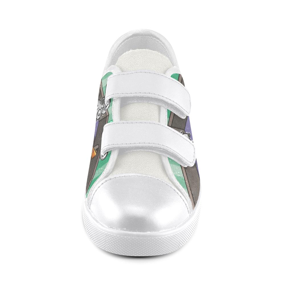 Dumb Cat Velcro Canvas Kid's Shoes (Model 008)