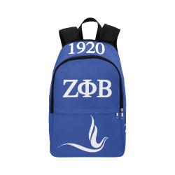 Zeta Phi Beta - dove Fabric Backpack for Adult (Model 1659)