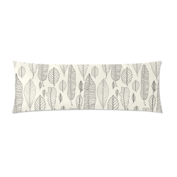 """Japanese Leaves Custom Zippered Pillow Case 21""""x60""""(Two Sides)"""