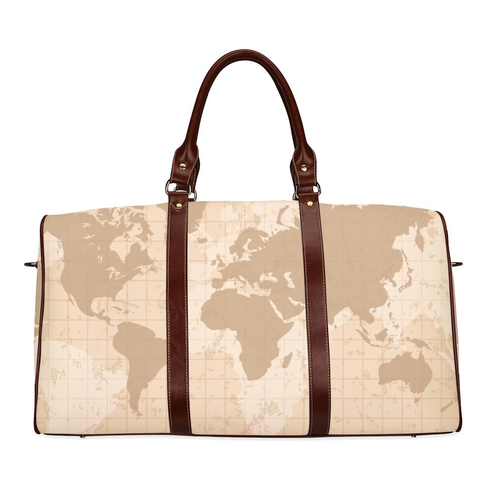 World Map Waterproof Travel Bag/Small (Model 1639)
