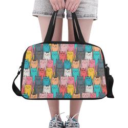 Cartoon Cat Pattern Fitness Handbag (Model 1671)
