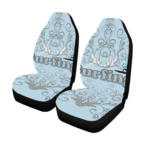 Surfboarder With Decorative Fl Elements Car Seat Covers Set Of 2 Id D3017915