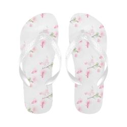 Pattern Orchidées Flip Flops for Men/Women (Model 040)