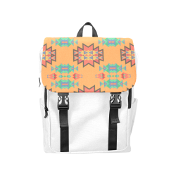 Misc shapes on an orange background Casual Shoulders Backpack (Model 1623)