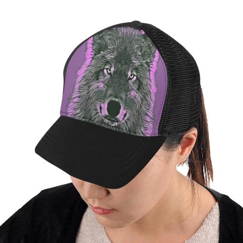 WOLF BASECAP Trucker Hat H (Front Panel Customization)