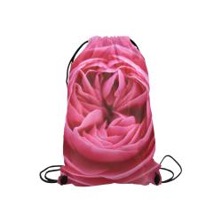 "Rose Fleur Macro Small Drawstring Bag Model 1604 (Twin Sides) 11""(W) * 17.7""(H)"