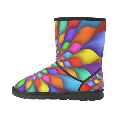 RAINBOW SKITTLES Custom High Top Unisex Snow Boots (Model 047)