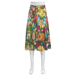 Is It Springtime Yet? Mnemosyne Women's Crepe Skirt (Model D16)