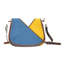Color Ligth handbag Saddle Bag/Small (Model 1649) Full Customization