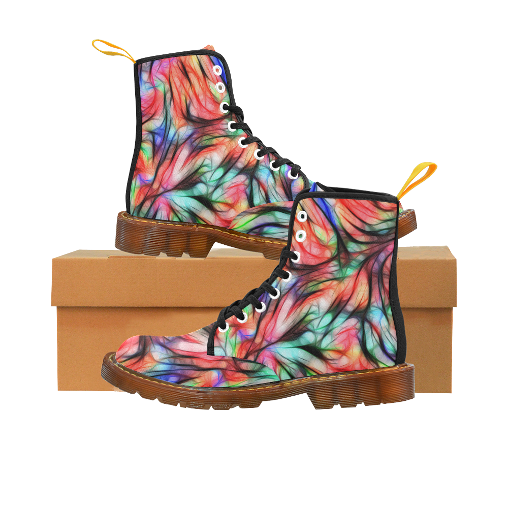 Misty Moods Reds by Jera Nour Martin Boots For Women Model 1203H