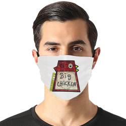 Chicken by Nico Bielow Flat Mouth Mask with Drawstring (Model M07)