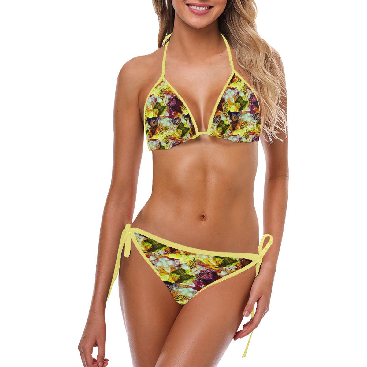 Graffiti Style - Markings on Watercolors Custom Bikini Swimsuit (Model S01)