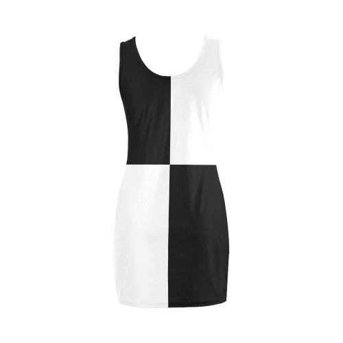 Mod Sixties 2Tone Color Block by ArtformDesigns Medea Vest Dress (Model D06)