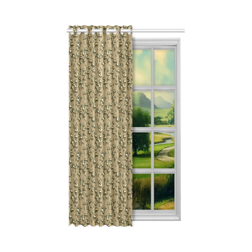 "golden drops New Window Curtain 52"" x 72""(One Piece)"