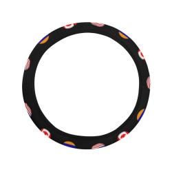 USA Canada Armenia Steering Wheel Cover with Elastic Edge