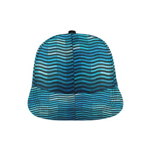bluewave All Over Print Snapback Hat D