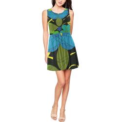 Space Garden 2020 Thea Sleeveless Skater Dress(Model D19)