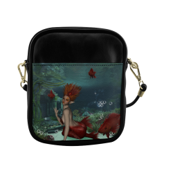 Beautiful mermaid and fantasy fish Sling Bag (Model 1627)