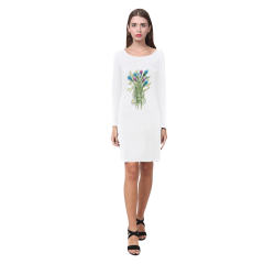 Crystal Gem Flowers Watercolor Demeter Long Sleeve Nightdress (Model D03)