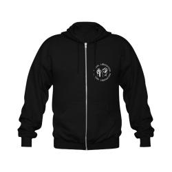 Animal Liberation, Human Liberation Gildan Full Zip Hooded Sweatshirt (Model H02)